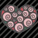 decorate, heart, love, pink, rose, valentine