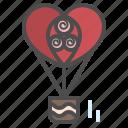 air, artboard, balloon, celebration, heart, valentine