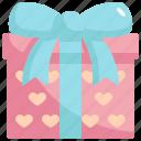 present, love, valentines, valentines day, gift, box