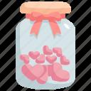bottle, heart, love, valentines, valentines day, gift icon