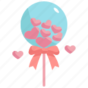 balloon, heart, love, valentines, valentines day, party icon