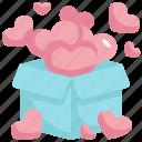 heart, box, present, gift, love, valentines, valentines day icon