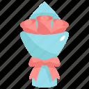 bouquet, flower, floral, love, valentines, valentines day, gift icon