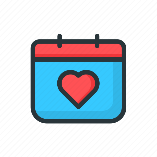calendar, date, day, love, month, valentine, year icon