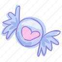 candy, chocolate, heart, valentine icon
