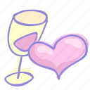 drink, love, valentine, valentine's day icon