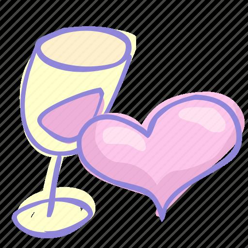 drink, love, valentine, valentine's day icon