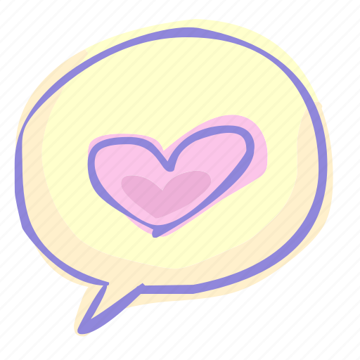 chat, heart, love, valentine, valentine's day icon