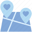 favorite location, heart, location marker, love pin, map pin, navigation, valentine's day