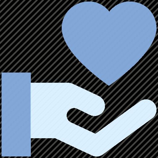 care, gesture, hand, heart, love, valentine's day icon