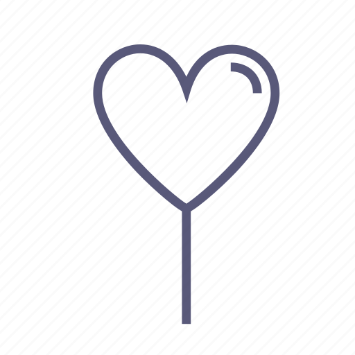 balloon, favorite, heart, lollipop, love, romance, vday icon