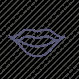 kiss, lips, lipstick, mouth, smile, speak, vday icon