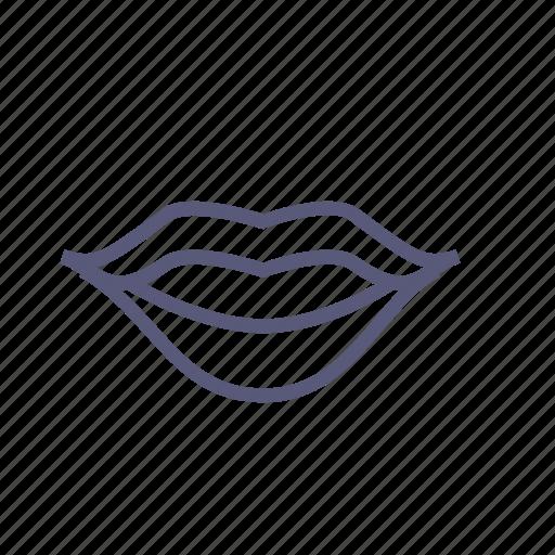 Kiss, lips, lipstick, mouth, smile, speak, vday icon ...