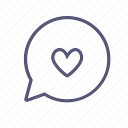 chat, heart, love, love letter, message, romance, vday icon