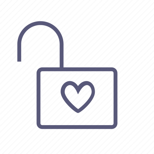heart, in love, lock, love, unlock, valentine's day, vday icon