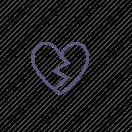 broken, broken heart, heart, love, valentine's day, vday icon