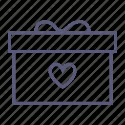 box, love, present, surprise, valentine's day, vday icon