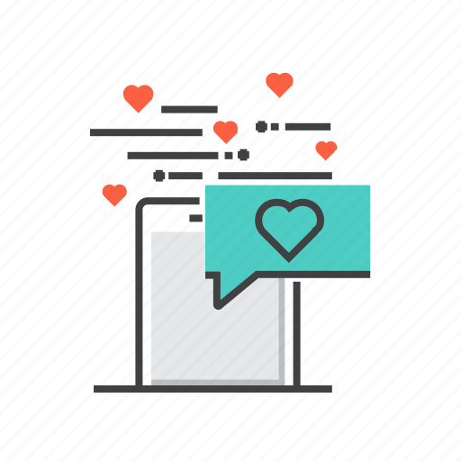 communication, heart, interaction, love, message, valentine icon
