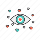 eyes, favorite, heart, like, romance, valentines icon