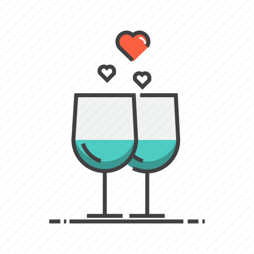 alcohol, drink, glass, valentine, valentines, wine icon