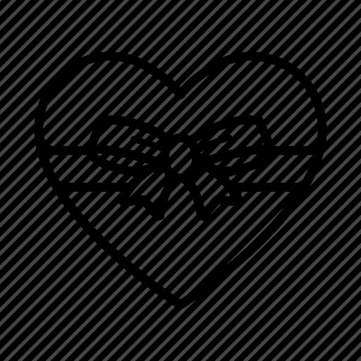 box, chocolate, gift, heart, love, present, valentine icon