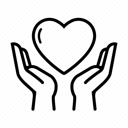 care, charity, gift, hand, heart, love, valentine icon