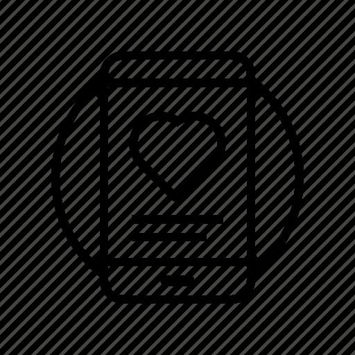 heart, love, media, mobile, smartphone, social, valentine icon