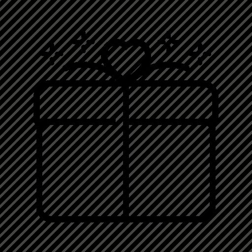 birthday, box, gift, heart, love, present, valentine icon