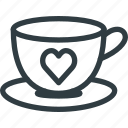 coffee, cup, day, heart, love, romantic, valentines icon