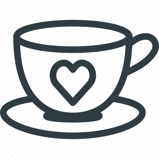 Coffee, cup, day, heart, love, romantic, valentines icon - Download on Iconfinder
