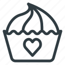 celebration, cupcake, day, love, romantic, valentines icon