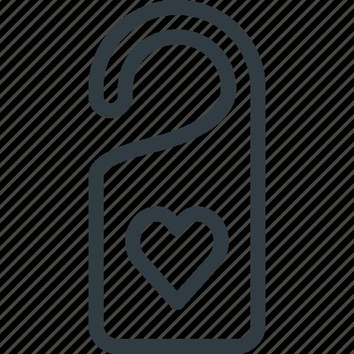 celebration, day, door, hanger, love, romantic, valentines icon