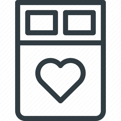 bed, celebration, day, hotel, love, romantic, valentines icon