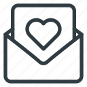 card, day, letter, love, post, romantic, valentines icon