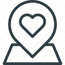 location, love icon