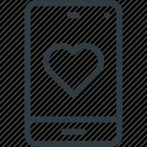 love, message, mobile icon