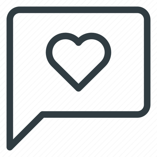 buble, chat, love, message, send icon
