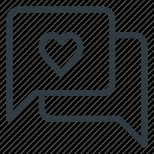 bubble, chat, love, message icon
