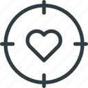 celebration, day, love, romantic, target, valentines icon
