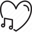 day, love, loving, music, romance, romantic, valentines icon