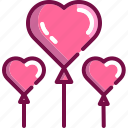 balloon, heart, love, party, valentine icon