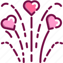celebration, firework, heart, love, party, valentine icon