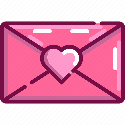 email, heart, letter, love, valentine icon
