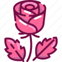 bloom, day, flower, love, rose, valentine icon