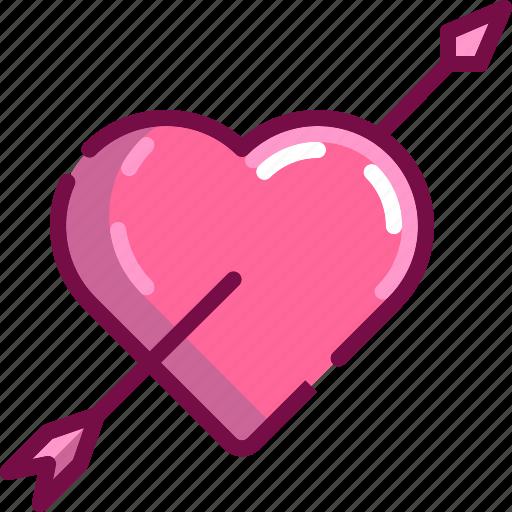 archer, arrow, cupid, heart, love, valentine icon