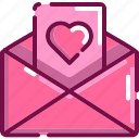 card, email, heart, love, massage, valentine icon