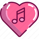 heart, love, music, note, song, valentine