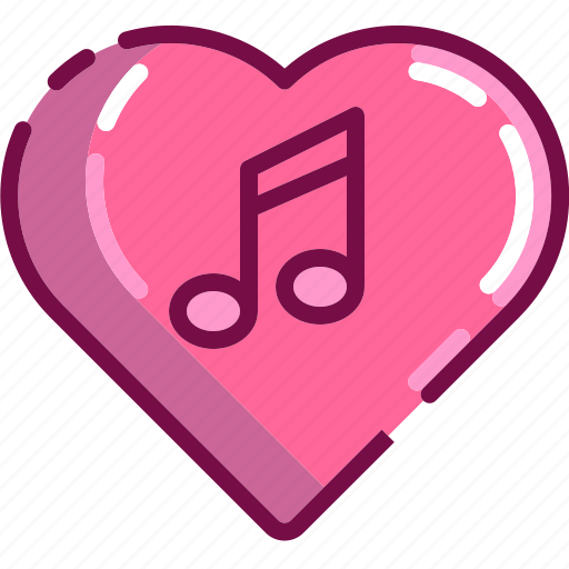 heart, love, music, note, song, valentine icon