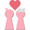 couple, dating, happy, heart, love, valentines, wedding icon