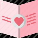 card, celebration, day, heart, invitation, love, valentines icon